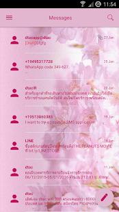 LoveSakura SMS Zprávy - náhled