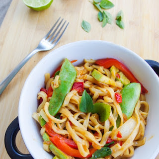 Spicy Basil Noodles (Vegan Drunken Noodles)