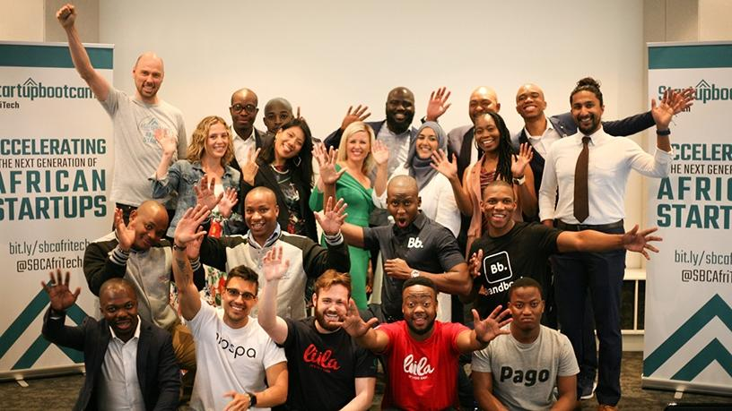 Participants in the 2018 edition of the Startupbootcamp AfriTech programme.