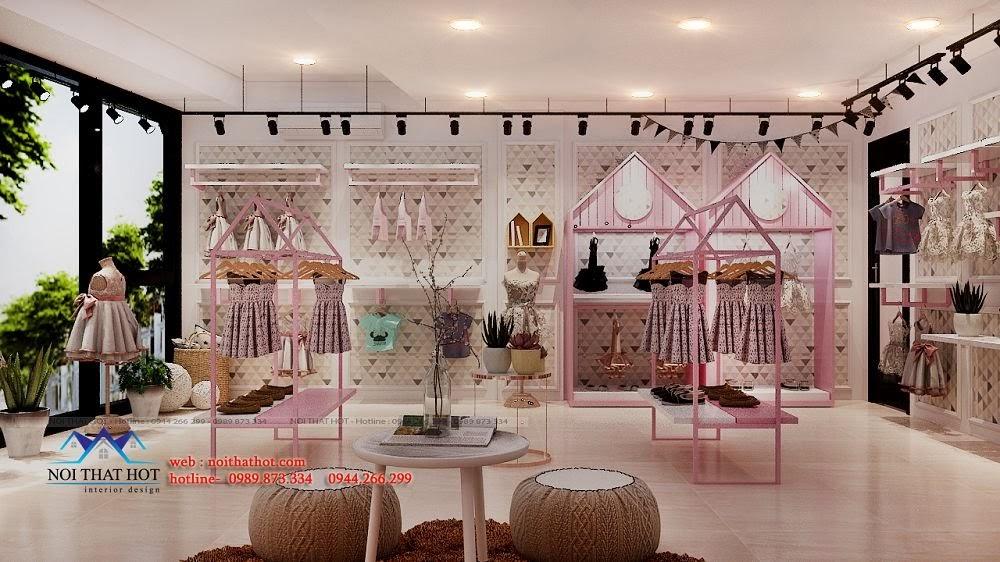 thiết kế shop thời trang dễ thương