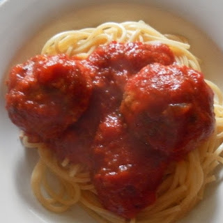 Spaghetti and Italian Style Meatballs