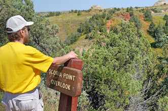 Photo: Dennis at an overlook along the park road.