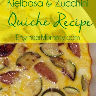 Kielbasa & Zucchini Quiche.