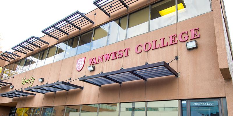 Vanwest College campus in Kelowna, BC