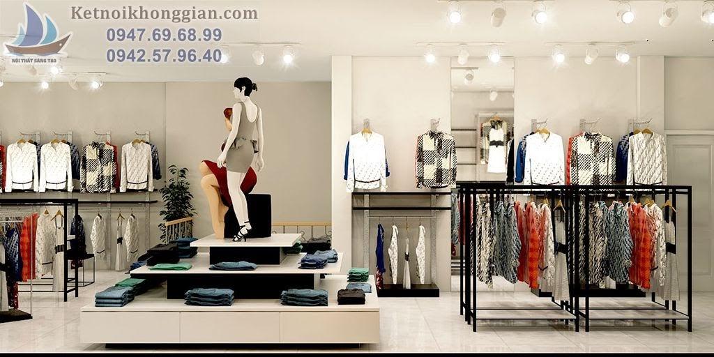 thiết kế cửa hàng thời trang diện tích 120m2