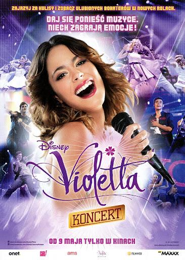 Przód ulotki filmu 'Violetta: Koncert'