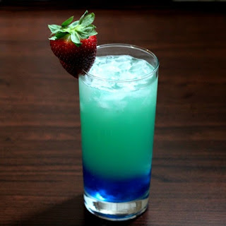 Azure Lagoon Cocktail.