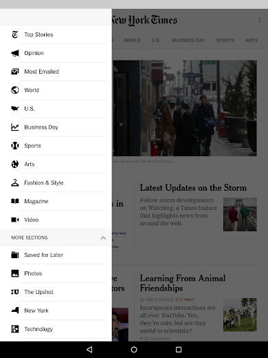 Screenshot 15 for The New York Times's Android app'