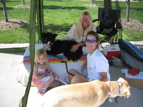 Photo: Deb and friends at the 1st Annual  Rocky Mountain Lab Rescue Doggie Dash in Louisville