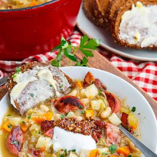 Kielbasa Sauerkraut Soup.