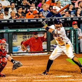 Jose Altuve by Prentiss Findlay - Sports & Fitness Baseball ( major league baseball, altuve, baseball, jose altuve, houston astros )