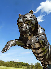 Photo: Detail Tiger head, tyre recycling art