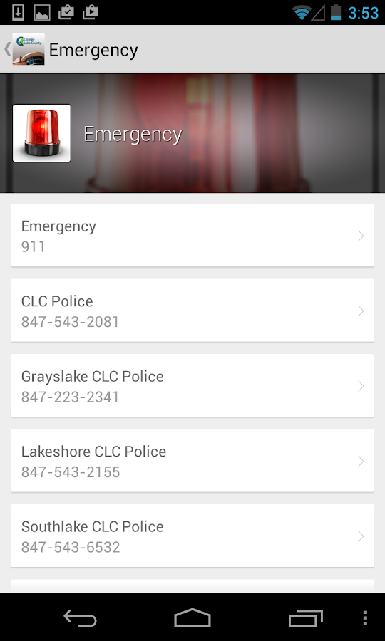 CLC Mobile- screenshot