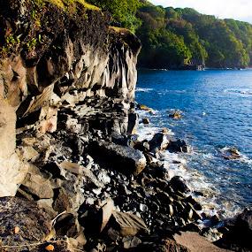 Silent Beauty by Christie Lynn - Landscapes Waterscapes ( maui, nature, ocean, landscape, rocks )