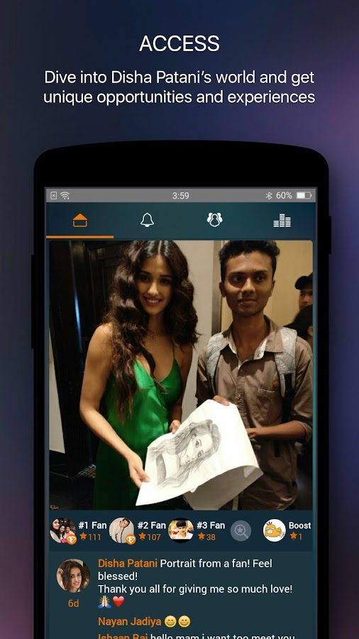 Screenshots of Disha Patani Official App for iPhone