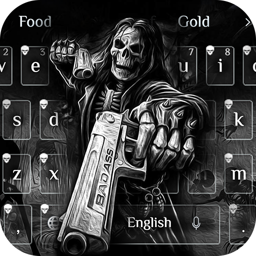 Death skull Gun Theme Keyboard file APK for Gaming PC/PS3/PS4 Smart TV