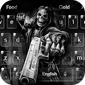 Death skull Gun Theme Keyboard