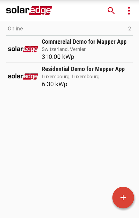 SolarEdge Site Mapper- screenshot