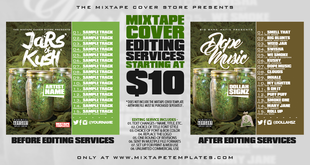 Let Us Personalize The Mixtape Cover Artwork YOUR Way !