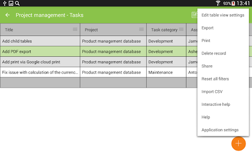 MobiDB Project Management- screenshot thumbnail