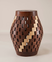 "Photo: Bob Grudberg 4"" x 7"" light shade [walnut]"