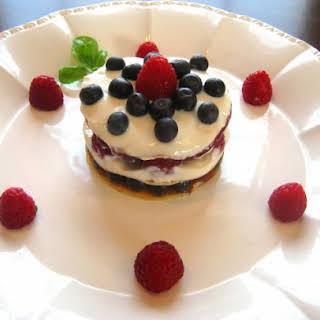 Tutti Frutti Yogurt, Jam and Berry Crepe Cake.