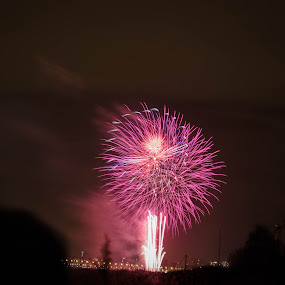 Part 1 by Nistorescu Alexandru - Public Holidays New Year's Eve ( #oldone, #newyear, #longexposure, #fireworks, #red,  )