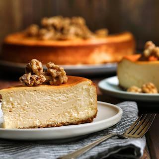 New York Maple-Walnut Cheesecake