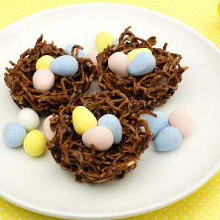 Chow Mein Noodle Easter Egg Nests