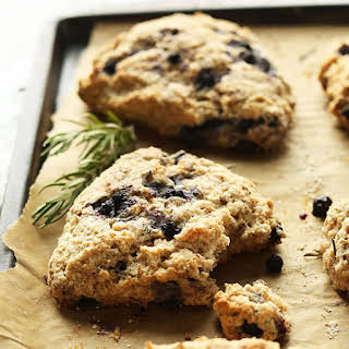 Coconut Oil Blueberry Scones with Rosemary.