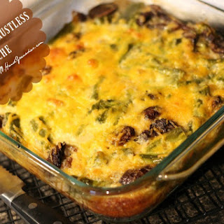 Sausage & Asparagus Crustless Quiche.