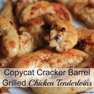 Copycat Cracker Barrel Grilled Chicken Tenders.