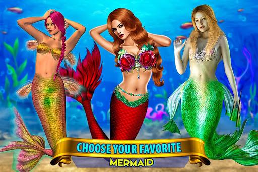 Mermaid Simulator: Underwater & Beach Adventure android2mod screenshots 6