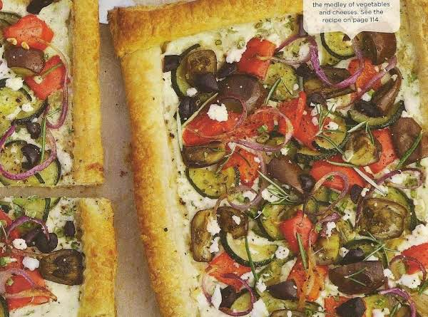 Puff Pastry Tart With Roasted Veggies Recipe