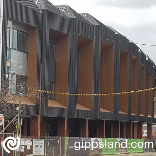 The facade of the Govhub building in Church St, Morwell