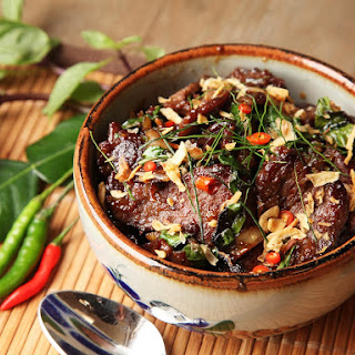 Thai-Style Beef With Basil and Chilies (Phat Bai Horapha)