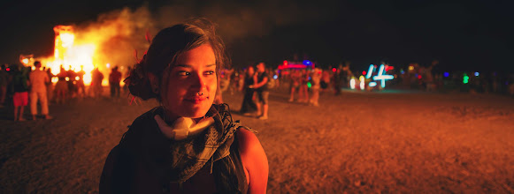 Photo: Girl in the Desert Fires  Slowly adding photos to my Burning Man album for you...
