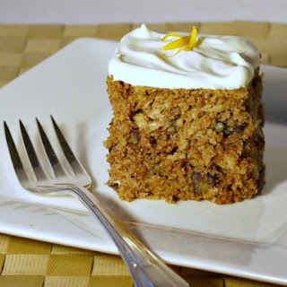 Parsnip Cake with Orange-Infused Whipped Cream.