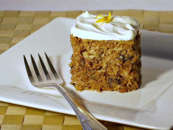 Parsnip Cake with Orange-Infused Whipped Cream Recipe