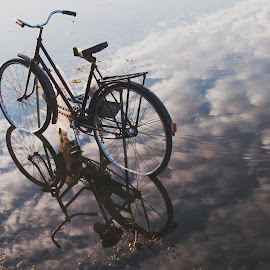 by Maja Tomic - Transportation Bicycles ( bicycle, reflection )