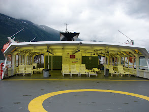 Photo: The solarium on the ferry.