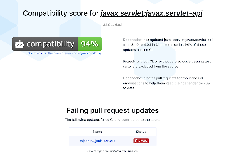Compatibility Score Page