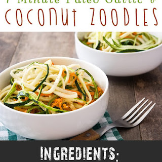 7 Minute Paleo Garlic & Coconut Zoodles