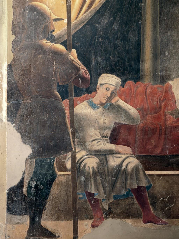 Piero della Francesca, Sogno di Costantino (dettaglio), le Storie della Vera Croce, Basilica di San Francesco, Arezzo