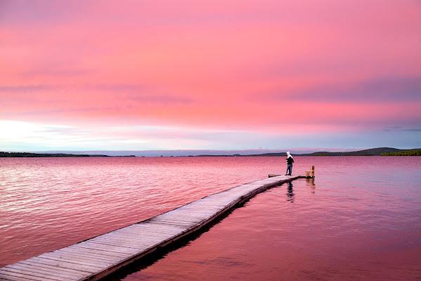 Magico tramonto, Inari Finlandia. di cicciobello