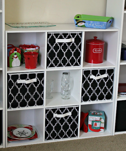 A 9-cube organizer is a great way to corral smaller items and display odds and ends. Great for home office organization.