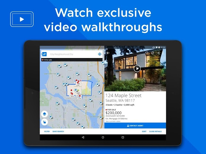 Screenshot 6 for Zillow's Android app'