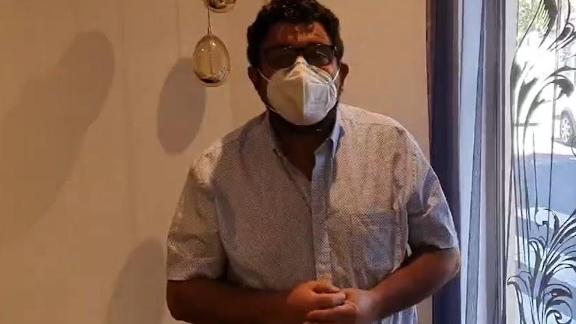 Captura de pantalla del vídeo del alcalde de Fiñana.