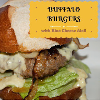 Buffalo Burgers with Blue Cheese Aioli