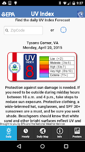 EPA's SunWise UV Index- screenshot thumbnail